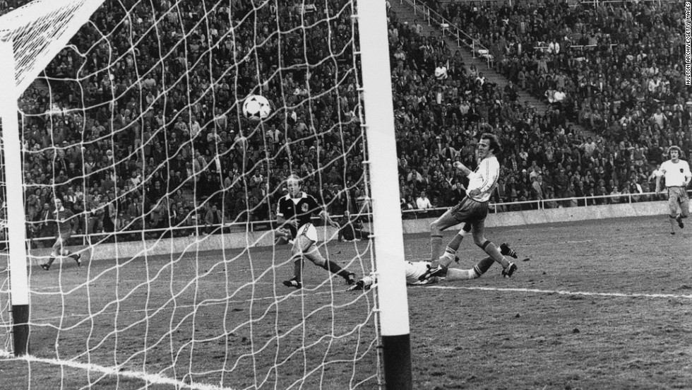 "Scotland's national football team has failed to reach the knockout stage from its eight World Cup appearances. The 1978 campaign was largely a disaster, confounding coach Ally MacLeod's prediction that his side would return with a ""medal,"" but one moment of glory still brings a smile. After falling behind, Scotland rallied to beat the Dutch 3-2 in their final group game as Archie Gemmill weaved his way past three defenders before curling home one of the World Cup's great individual goals."