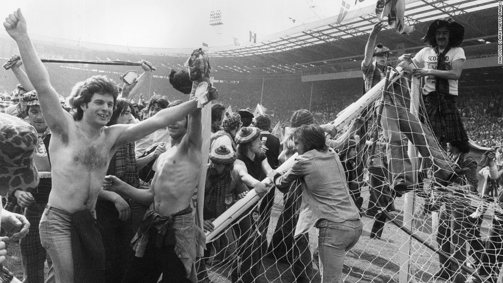 Scotland's greatest victory over traditional rival England came in 1967, as the reigning world champion suffered a first defeat in 20 games at home stadium Wembley. Ten years later, Scotland won again but the match is remembered for the way in which visiting fans invaded the pitch before pulling down the goalposts.