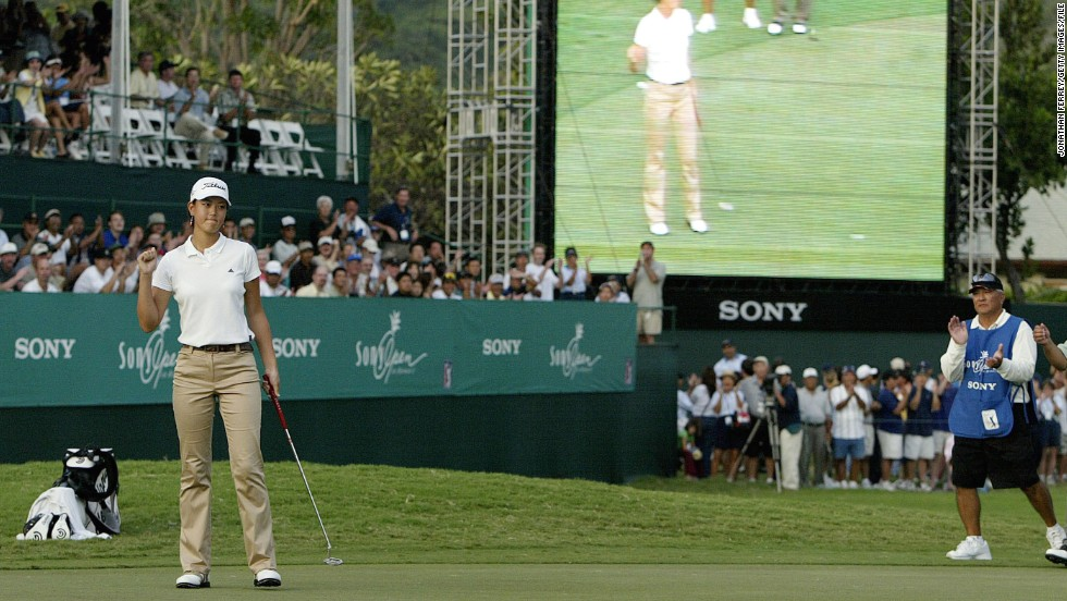 Wie joined an elite group of female golfers when, in 2004, she played on the men's PGA Tour at the Sony Open. Aged just 13, Wie carded an impressive 68 in the second round but eventually missed the cut.
