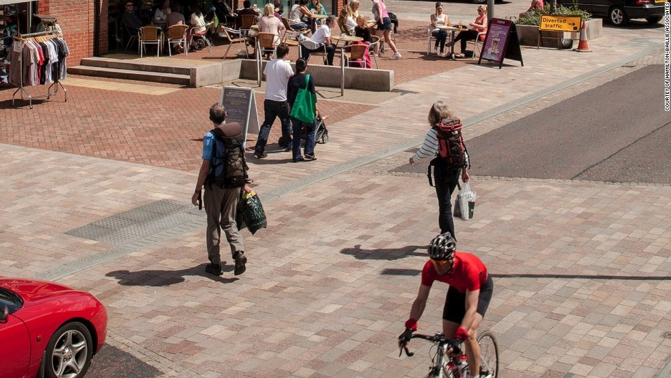 Regeneration of the small town of Poynton in Cheshire, UK to a shared space has seen accident rates fall and the number of shoppers rise.