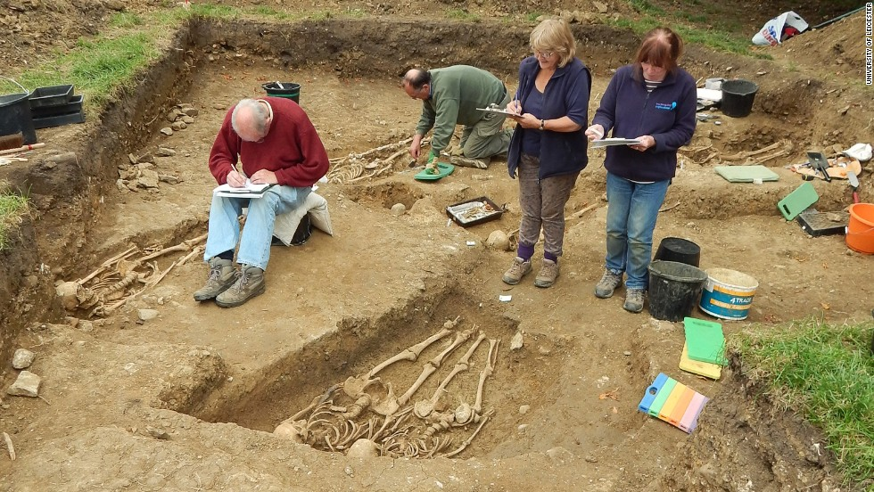 The team of archaeologists and volunteers record their findings at the chapel and the cemetery.