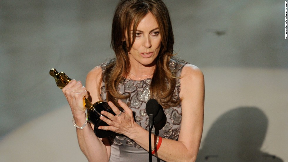 Kathryn Bigelow accepts the Oscar for best director at the 2010 Academy Awards in  Hollywood.  Bigelow directed the 1991 original Point Break film.