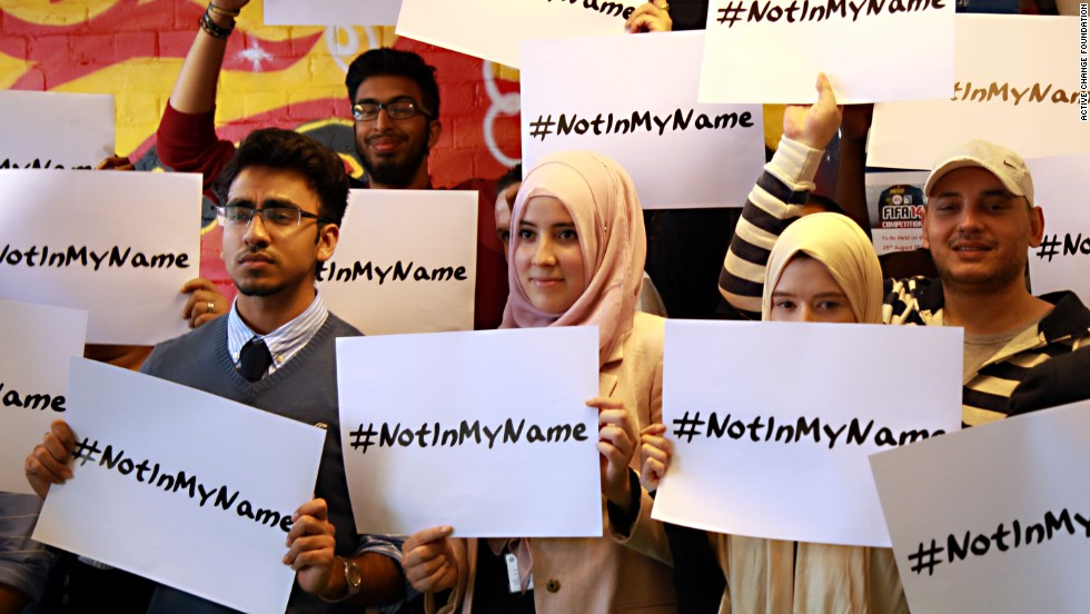 Young British Muslims have launched the #notinmyname campaign to counter ISIS' extremism.