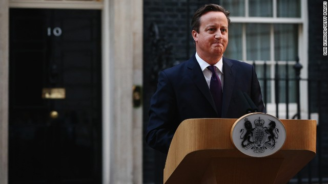 Prime Minister David Cameron gives a press conference following the results of the Scottish referendum on independence outside 10 Downing Street on September 19, 2014 in London, England.
