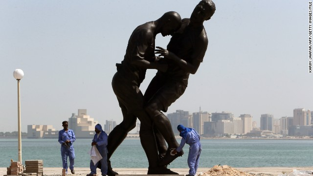 "Zidane's headbutt on Materazzi was immortalized in the bronze statue titled ""Coup de Tete""  made by French Algerian born artist Adel Abdessemed."