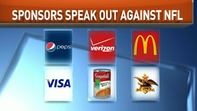 Sponsors speak out against NFL