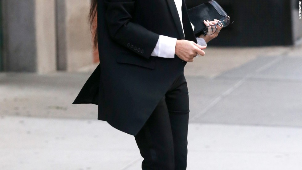 Demi Moore looks sleek and chic in New York on September 18.
