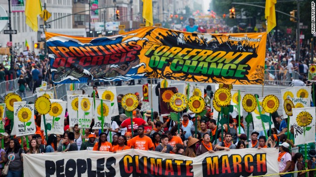 Climate change rallies across the world