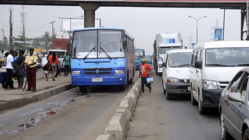 Bus transit systems have spread to all continents. Commuters board Buses in Lagos which rely on the use of dedicated interference free segregated lanes to guarantee fast bus travel to beat the traffic.