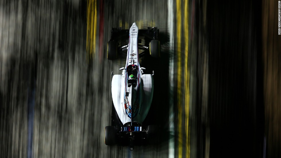 Formula One driver Felipe Massa practices Friday, September 19, ahead of the Singapore Grand Prix.