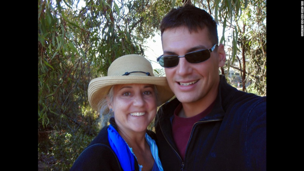 Tice is pictured here with his mother, Debra, on a California trip a year before he went missing.