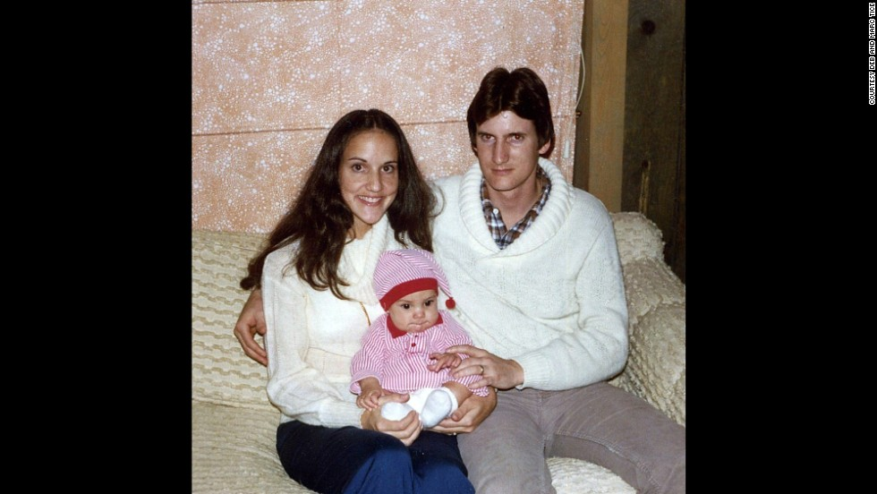 Debra and Marc Tice celebrate Austin's first Christmas in 1981.