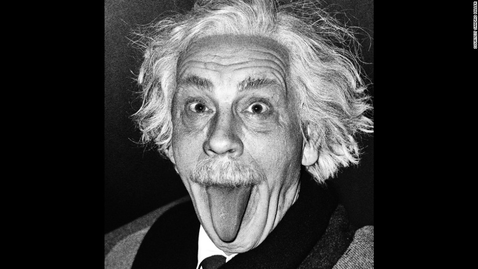Malkovich is Albert Einstein in a re-creation of the classic Arthur Sasse shot in 1951.