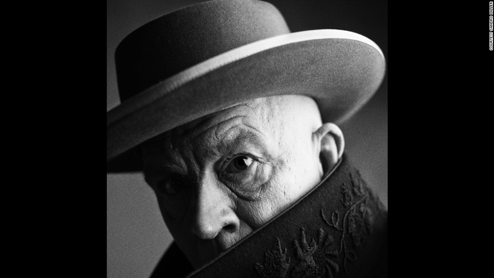 Malkovich appears as artist Pablo Picasso. It's based on an Irving Penn photo from 1957.