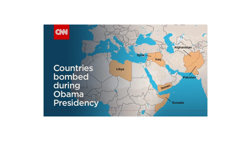 Countries Bombed By The U S Under The Obama Administration