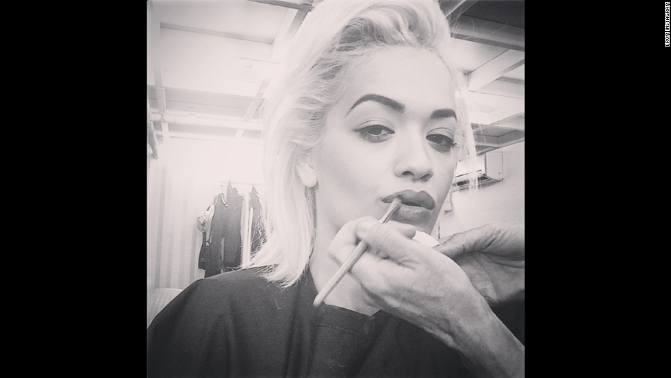 """Good morning,"" singer Rita Ora wrote as she <a href=""http://instagram.com/p/tO2qdhRs2q/"" target=""_blank"">prepped for a shoot</a> on Sunday, September 21."