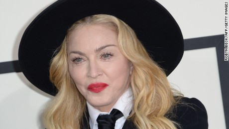 Madonna attends the 2014 Grammy Awards.