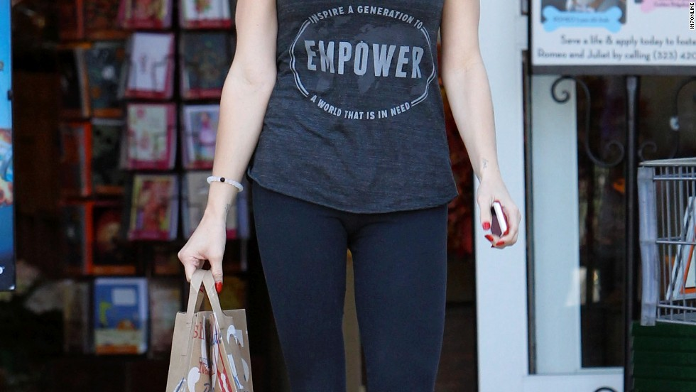 Ashley Greene stays incognito while running an errand on September 23.