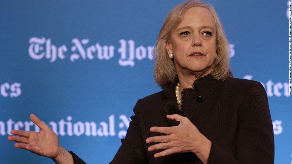 Meg Whitman, CEO of Hewlett-Packard with a fortune approaching $2 billion, cites her father Hendricks Hallett Whitman, Jr. as the biggest influence on her career.