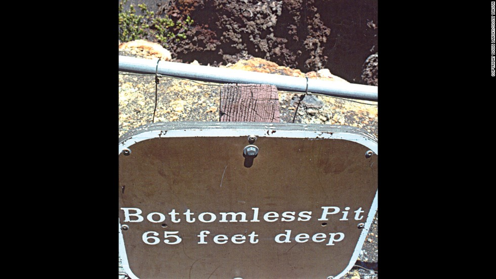 This pit in Maui, Hawaii, isn't absolutely bottomless.