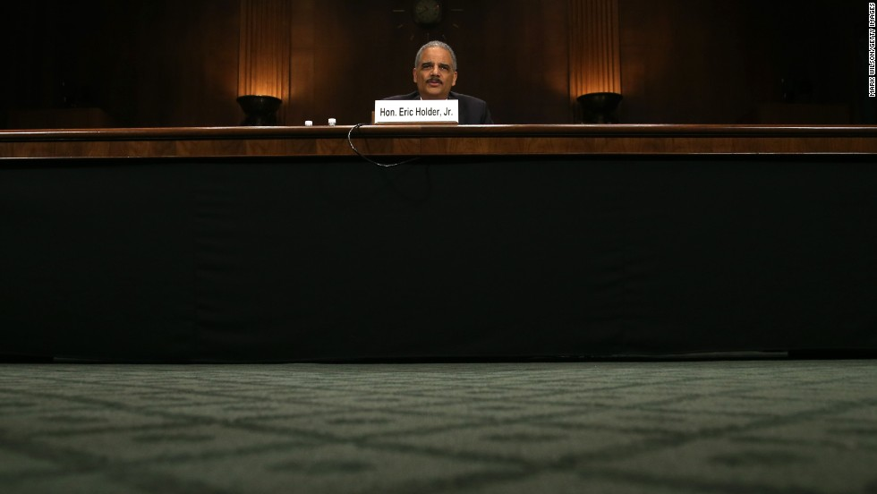Holder testifies at a Senate Judiciary Committee hearing on Thursday, January 29, on oversight of the Justice Department and reform of government surveillance programs.