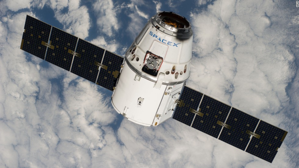 "The SpaceX Dragon approaches the International Space Station on Tuesday, September 23. The commercial cargo craft <a href=""http://www.cnn.com/2014/09/21/tech/spacex-launch/index.html"">brought a 3-D printer into space</a> for the first time, and astronauts will use the printer to try to produce parts cheaply and on demand. This is the Dragon's fourth cargo flight to the space station, including its test flight on May 2012."
