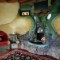 Earthship fireplace