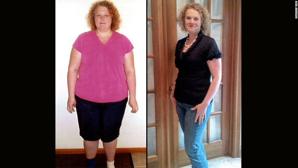 Amanda Zumbrun from Huntington, Indiana, lost 98 pounds.