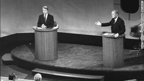 The first of three Ford-Carter presidential debates in 1976