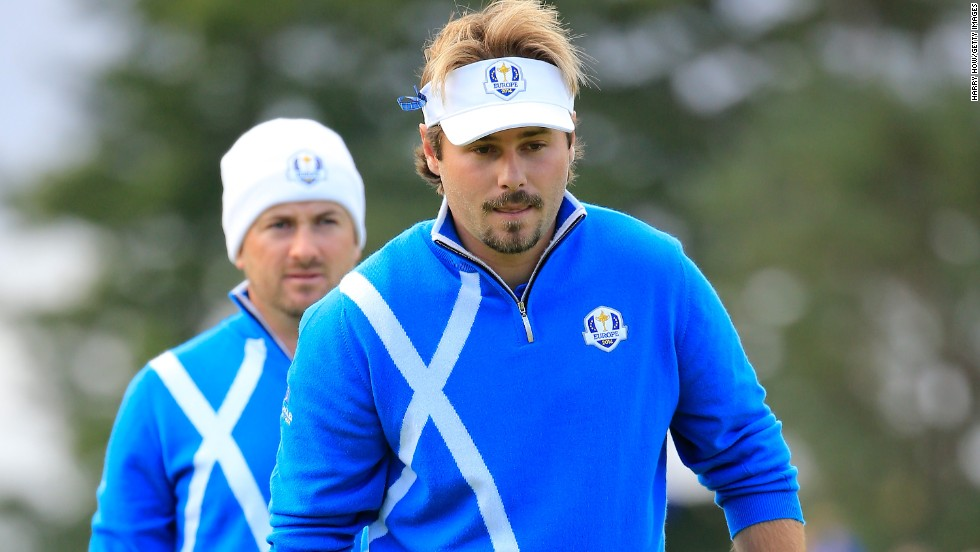France's Victor Dubuisson (right), who made his debut for Europe in the afternoon foursomes, teamed with Ryder Cup veteran Graeme McDowell. The pair immediately clicked beating Phil Mickelson and Keegan Bradley 3&2 in the final match of the day, handing Europe a 5-3 overnight lead.