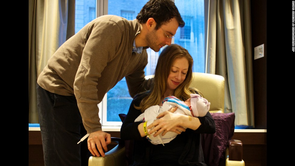 """At 7:03 PM on September 26th, we finally met Charlotte. We're in love,"" Chelsea Clinton said from her Twitter account. The infant was born in New York."