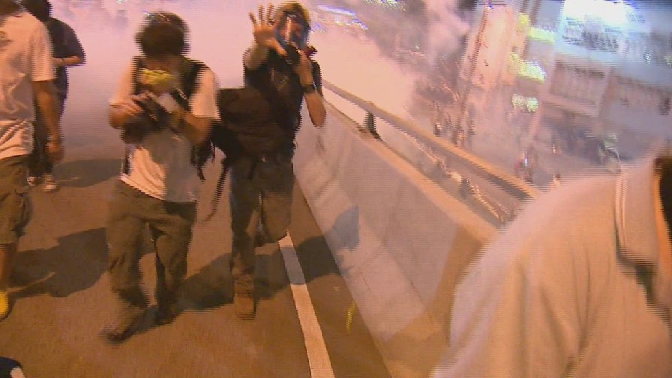 CNN crew gassed during Hong Kong protests - CNN Video