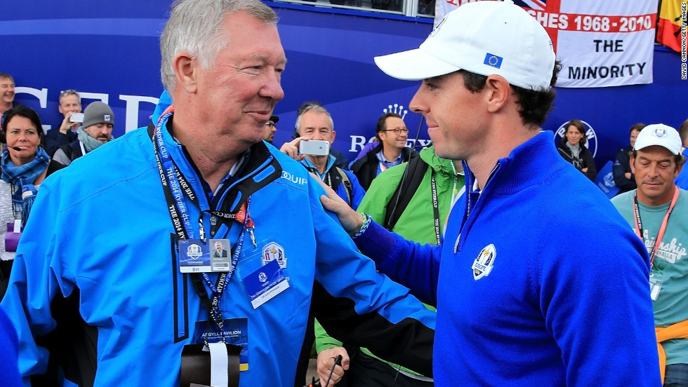 """I was sort of in this trance just listening to everything that he was saying,"" said Rory McIlroy of Ferguson's inspirational talk.<br />"