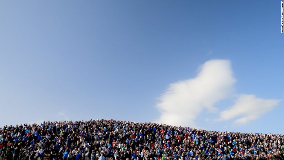 "No sporting occasion is complete without an electric atmosphere and as many as 40,000 fans flocked to the Gleneagles course each day. ""The Scottish crowd, the people here were terrific,"" said Phil Mickelson. ""They were very courteous, respectful of everybody."""
