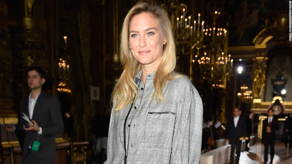 Bar Refaeli attends the Stella McCartney fashion show on September 29 in Paris, France.