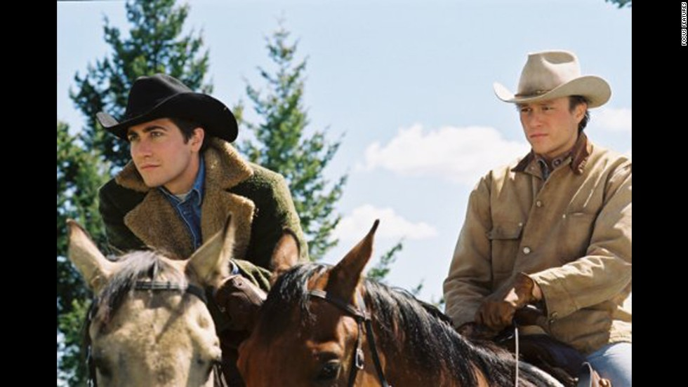 "<strong>""Brokeback Mountain"":</strong> Director Ang Lee, aided by a laconic script from Diana Ossana and Larry McMurtry, turned Annie Proulx's short story about the forbidden love between two Wyoming cowboys into a deeply affecting film. Jake Gyllenhaal and Heath Ledger (especially Ledger) earned raves for their performances, and both Lee and the screenwriters won Oscars."