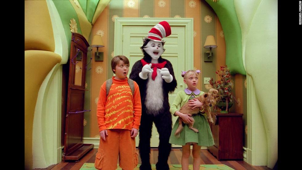 "<strong>""The Cat in the Hat"":</strong> Dr. Seuss' beloved children's book inspired a less-beloved, live-action 2003 movie with Mike Myers as the titular feline. To pad the slender book into a feature-length film, its creators added potty humor and subplots, including one with Alec Baldwin as a weaselly neighbor."