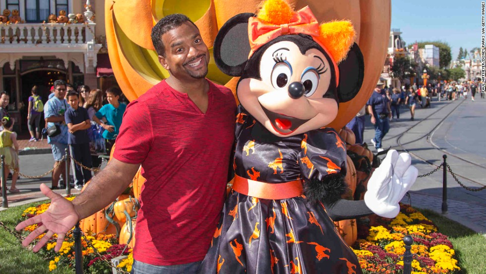 Alfonso Ribeiro celebrates Halloween Time with Minnie Mouse at Disneyland on September 30 in Anaheim, California.