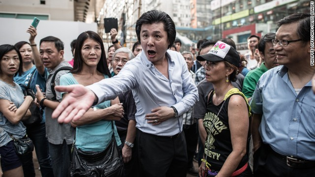 Did hired thugs break up HK protests?