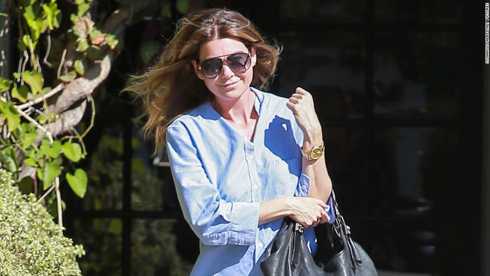 Ellen Pompeo stops by a salon on October 1 in West Hollywood, California.