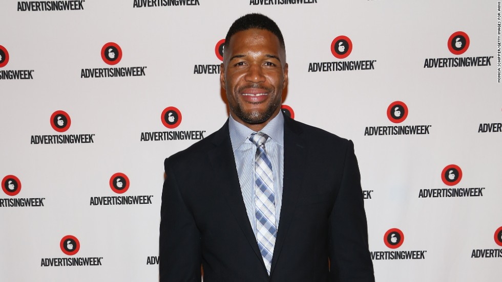 Michael Strahan poses on the red carpet on October 2 in New York City.