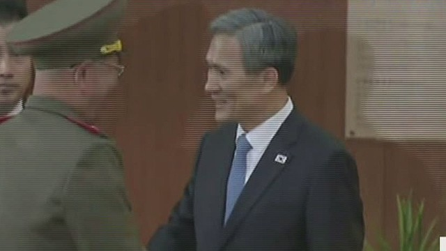 N. Korean officials make surprise visit