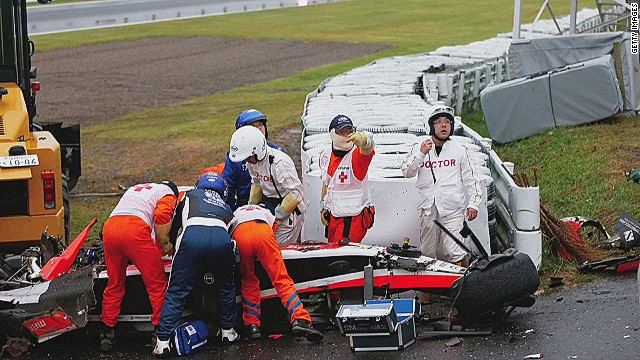 F1 driver Jules Bianchi injured in crash