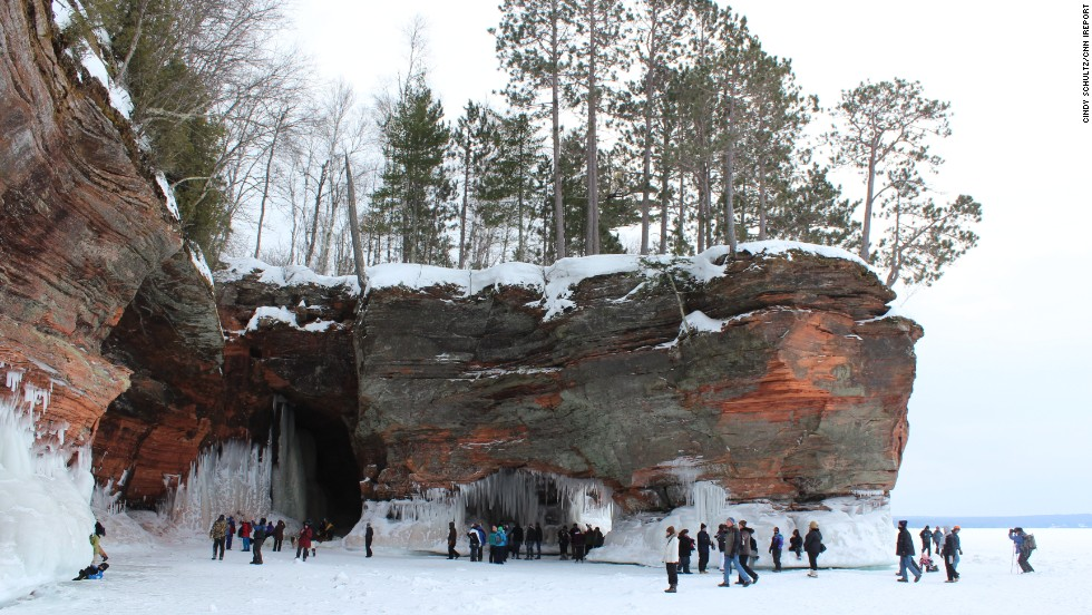 "The Lake Superior ice caves were <a href=""http://www.wpr.org/lake-superior-sea-caves-open-first-time-5-years"" target=""_blank"">reopened this year</a> for the first time since 2009. <a href=""http://ireport.cnn.com/docs/DOC-1080654"">Cindy Schultz</a> and her daughter Elizabeth recently made an 8-hour trip just to see the icy sight."