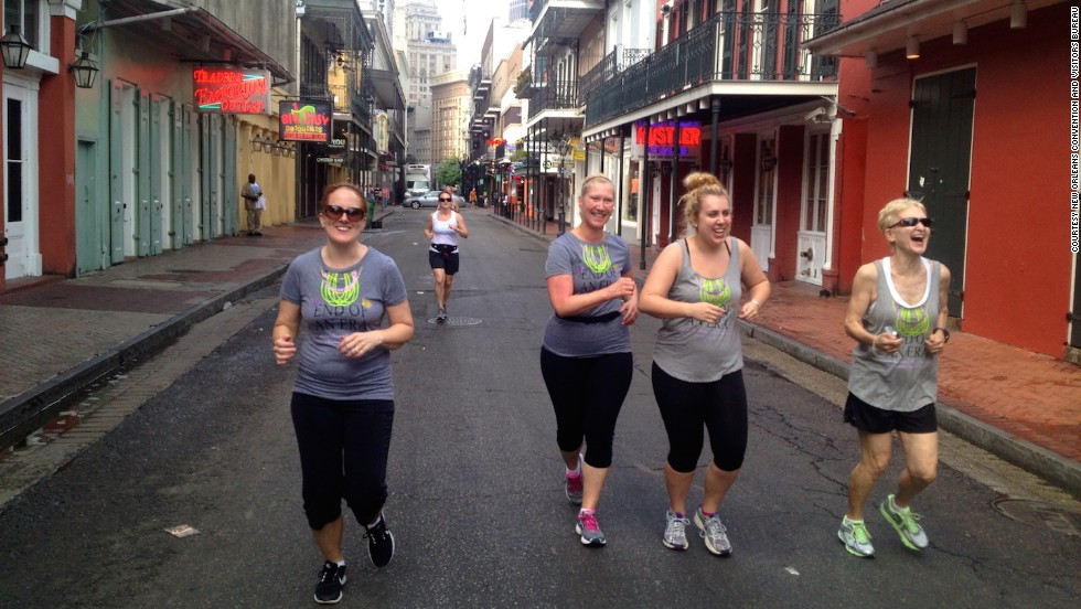 New Orleans offers organized running tours through the French Quarter that finish near the Garden District along the St. Charles Avenue streetcar tracks.