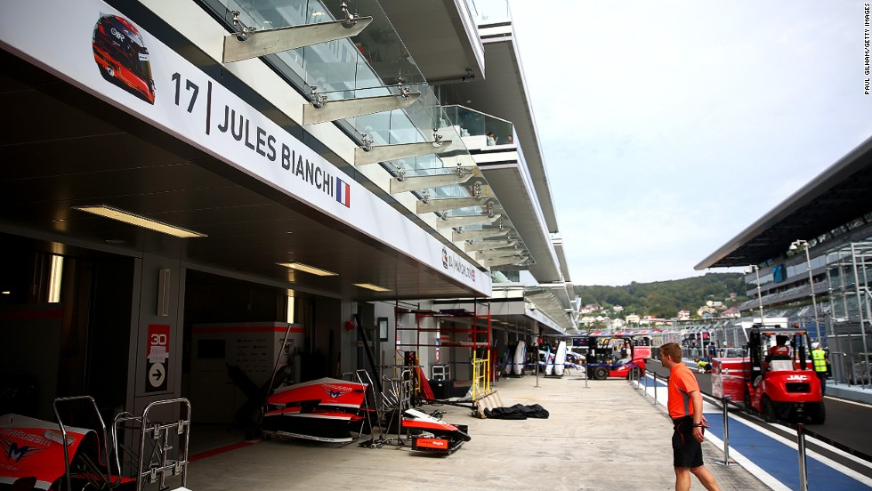 Marussia chose not to run another driver in Bianchi's car at the next race in Russia out of respect for the Frenchman.
