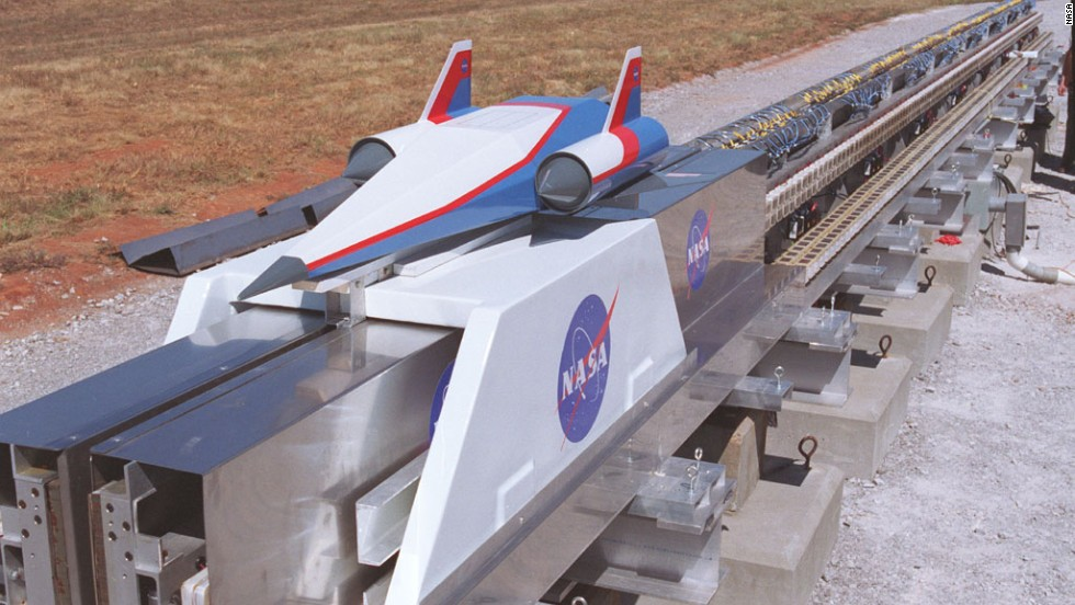 NASA has a unit that has experimented with rail-assisted launch technology. The concept involves a high-speed maglev rocket sled that would shoot a projectile into the stratosphere before ramjets or scramjets powered it the final leg into space.