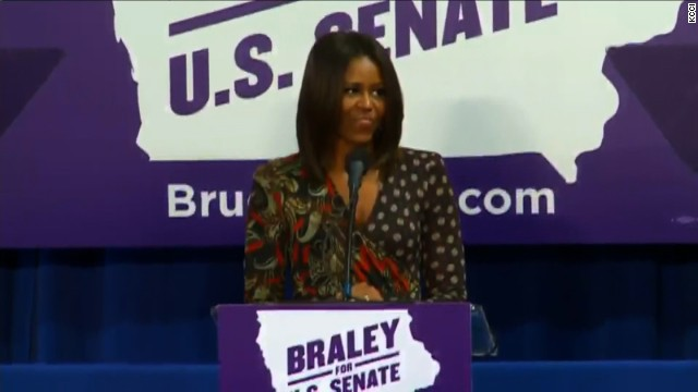 First Lady Michelle Obama at Bruce Braley campaign event