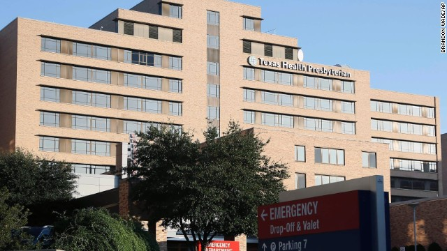 The emergency entrance to Texas Health Presbyterian hospital, Sunday, Oct. 12, 2014, in Dallas, Texas. Hospital officials have said they are no longer accepting new patients at this time after a healthcare worker, who was caring for Ebola patient Thomas Eric Duncan, tested positive for the disease in preliminary tests. (AP Photo/Brandon Wade)
