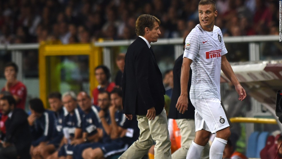 Serbian defender Nemanja Vidic joined Inter in preseason, but had an inauspicious start after being sent off in his first league game against Torino.